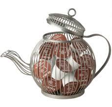 wire teapot k cup pod holder kitchen storage organizer home decor