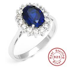 model cincin blue safir kate princess diana william 2 5ct blue sapphire engagement wedding