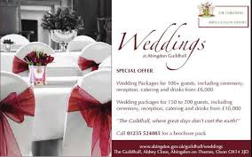 cheap wedding packages guildhall wedding packages abingdon on thames