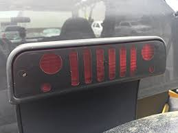 jeep wrangler brake light cover amazon com jeep grille grill third brake light cover for jeep