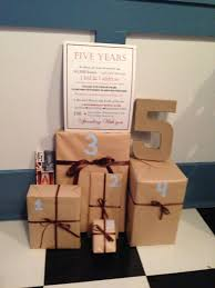 5 year wedding anniversary gifts for him 5 year anniversary 1 gift that reminds you of each year of
