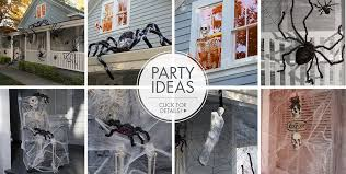 Glow In The Dark Halloween Window Decorations by Halloween Spiders Giant Spiders Spider Webs U0026 Spider