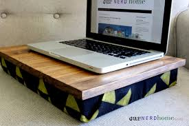 Laptop Desk Cushion Diy Desk With Sted Legend Of Fabric Diy Gift