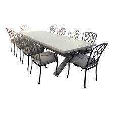best picture of 11 piece patio dining set all can download all lattice 11 piece cross leg dining setting