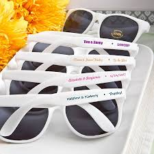 cheap personalized party favors white personalized sunglass party favors wedding bridal