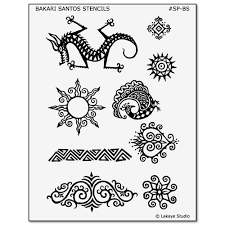 temporary design stencils for earth henna kits