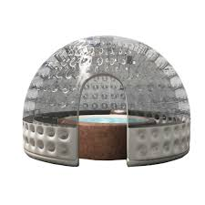 capannoni gonfiabili copertura gonfiabile poolglobe per cantiere piscina bsvillage