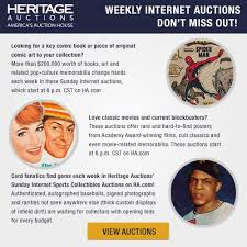heritage auctions offers weekly internet auctions u2013 sports comics