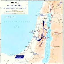 Isreal Map Map Of Israel June 1967