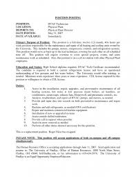 Maintenance Technician Job Description Resume by 9 Cv For Hvac Technician Resume Entry Level Hvac Technician Resume