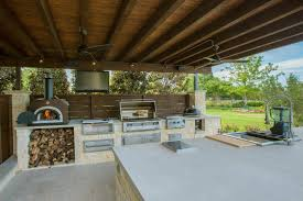 outdoor kitchen designs with pizza oven affordable kalamazoo