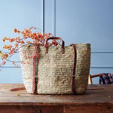 market backpack woven basket bag home u0026 leisure simple