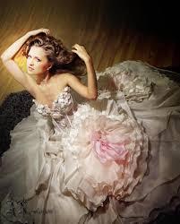 ball gown silk wedding dress princess bridal dress fluffy