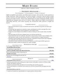 property manager resume sle property manager resume luxury property manager resume