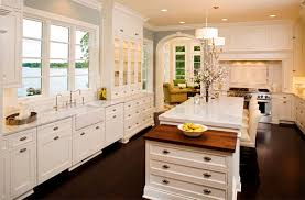 kitchen ideas with white cabinets dark island best home