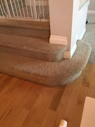 can i used engineer hardwood floors on rounded stairs
