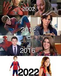 Funniest Memes Of 2012 - spiderman and aunt may through the years spiderman funny pictures