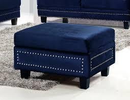 Navy Blue Storage Ottoman Ottoman Navy Blue Leather Storage Ottoman Navy Blue Leather With