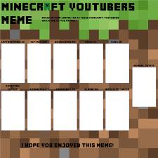 Minecraft Herobrine Memes - minecraft youtubers meme blank by feralfan2012 on deviantart