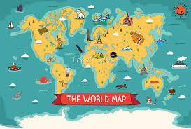 World Map Cartoon by The World Map Printable Maps And Graphic Organisers Teacher
