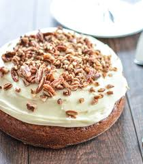 easy and moist carrot cake with pecans and cheese frosting