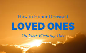 wedding memorial ideas for lost loved ones