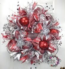 63 best christmas mesh wreaths images on pinterest christmas