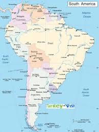 Topographical Map Of United States by Of South America