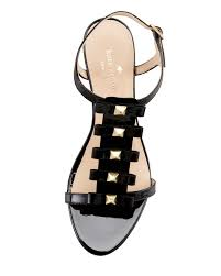 kate spade new york darcey bow studded wedge sandal in black lyst