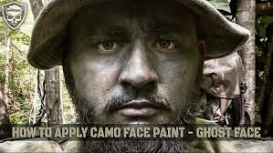ghost mask army how to apply camo face paint ghost face starfish method youtube