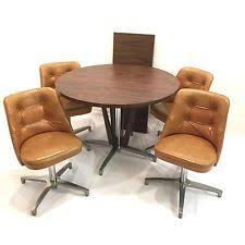 kitchen table with swivel chairs 1960s atomic mid century modern chromcraft kitchen table 4 retro