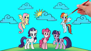 for kids coloring book my little pony friendship is magic youtube