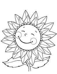 Happy Sunflower Coloring Page Download Print Online Coloring Happy Coloring Pages