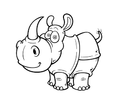 sweet small outline rhino tattoo design tattooimages biz