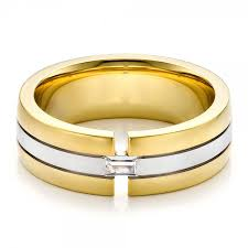 mens two tone gold wedding bands s two tone gold and wedding band 100146