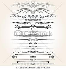 decorative rule lines vector design elements ornaments eps