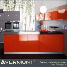 different color combination high gloss modern kitchen cabinet