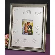 wedding signing frame guest signature frame silver signature picture frame