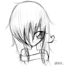 Emo Hairstyles Drawings by Emo Scene Sketch By Pikachu1inuyasha1 On Deviantart