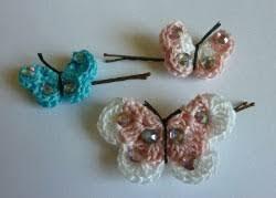 butterfly bobby pins allfreecrochet com
