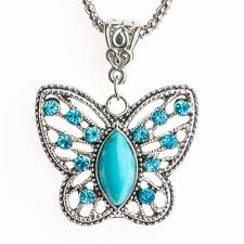 long butterfly necklace images Long chain blue butterfly necklace butterfly baubles jpg