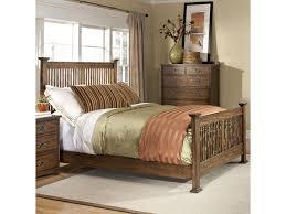 intercon oak park complete queen standard slat bed old brick