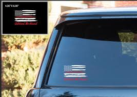 Car Window Flags American Flag United We Stand Car Decal Thin Red Line Decal