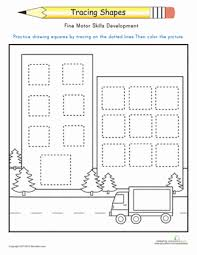 trace the squares worksheet education com