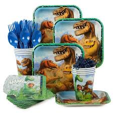 dinosaur birthday party supplies the dinosaur birthday party standard tableware kit serves 8