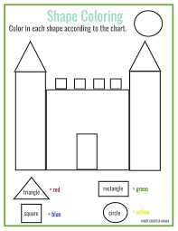 free printable shape coloring printable homeschool preschool