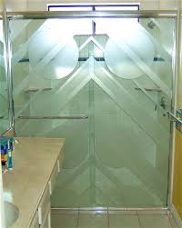 triangulum gls shower doors etched glass art deco decor