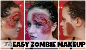 diy zombie makeup fast and easy youtube