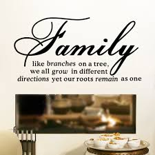 online get cheap wall decal stickers quotes aliexpress com family like branch wall decal removable wall sticker quotes 8082 mural art home decor living