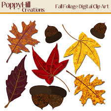 instant download printable fall foliage digital clip art